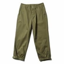 SASSAFRAS / ササフラス | Sprayer Stream Pants 4/5 - Work Satin - Olive