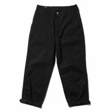 SASSAFRAS / ササフラス | Sprayer Stream Pants 4/5 - Work Satin - Black