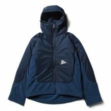 and wander / アンドワンダー | top fleece jacket - Navy