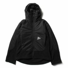 and wander / アンドワンダー | top fleece jacket - Black
