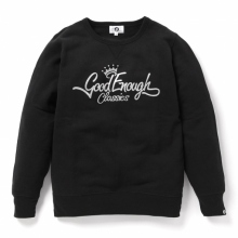 GOODENOUGH / グッドイナフ   GLITTER CLASSICS LOGO CREW SWEATSHIRTS - Black