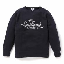 GOODENOUGH / グッドイナフ   GLITTER CLASSICS LOGO CREW SWEATSHIRTS - Navy
