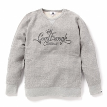 GOODENOUGH / グッドイナフ   GLITTER CLASSICS LOGO CREW SWEATSHIRTS - Grey