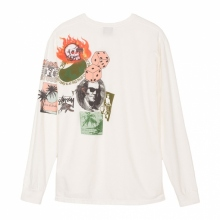 STUSSY / ステューシー | Frankin Pig Dyed LS Tee - Natural