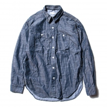 ENGINEERED GARMENTS / エンジニアドガーメンツ | Work Shirt - Lt. Weight Denim - Dk.Blue