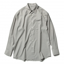 AURALEE / オーラリー | SUPER LIGHT WOOL CHECK SHIRTS - Gray Check