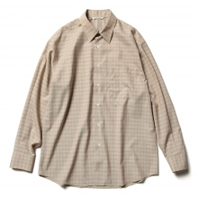 AURALEE / オーラリー | SUPER LIGHT WOOL CHECK SHIRTS - Pink Green Check