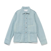 NAISSANCE / ネサーンス|DAMAGED DENIM SHIRT - Blue
