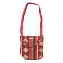 ENGINEERED GARMENTS / エンジニアドガーメンツ | Shoulder Pouch - Ethnic Jacquard St. - Red