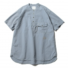 and wander / アンドワンダー | CORDURA typewriter short sleeve over shirt (M) - Blue