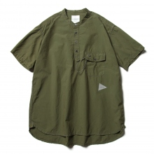 and wander / アンドワンダー | CORDURA typewriter short sleeve over shirt (M) - Khaki