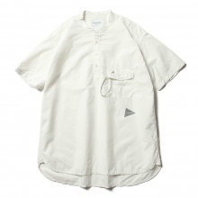 and wander / アンドワンダー | CORDURA typewriter short sleeve over shirt (M) - White