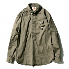 ....... RESEARCH || B.D. Pullover (G.P.1) - Cotton broad - Khaki