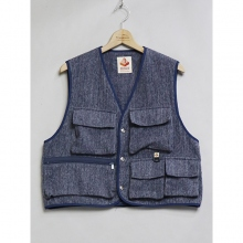 ....... RESEARCH | Terry Fishing Vest - Navy