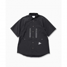 and wander / アンドワンダー | tech short sleeve shirt (M) - Black