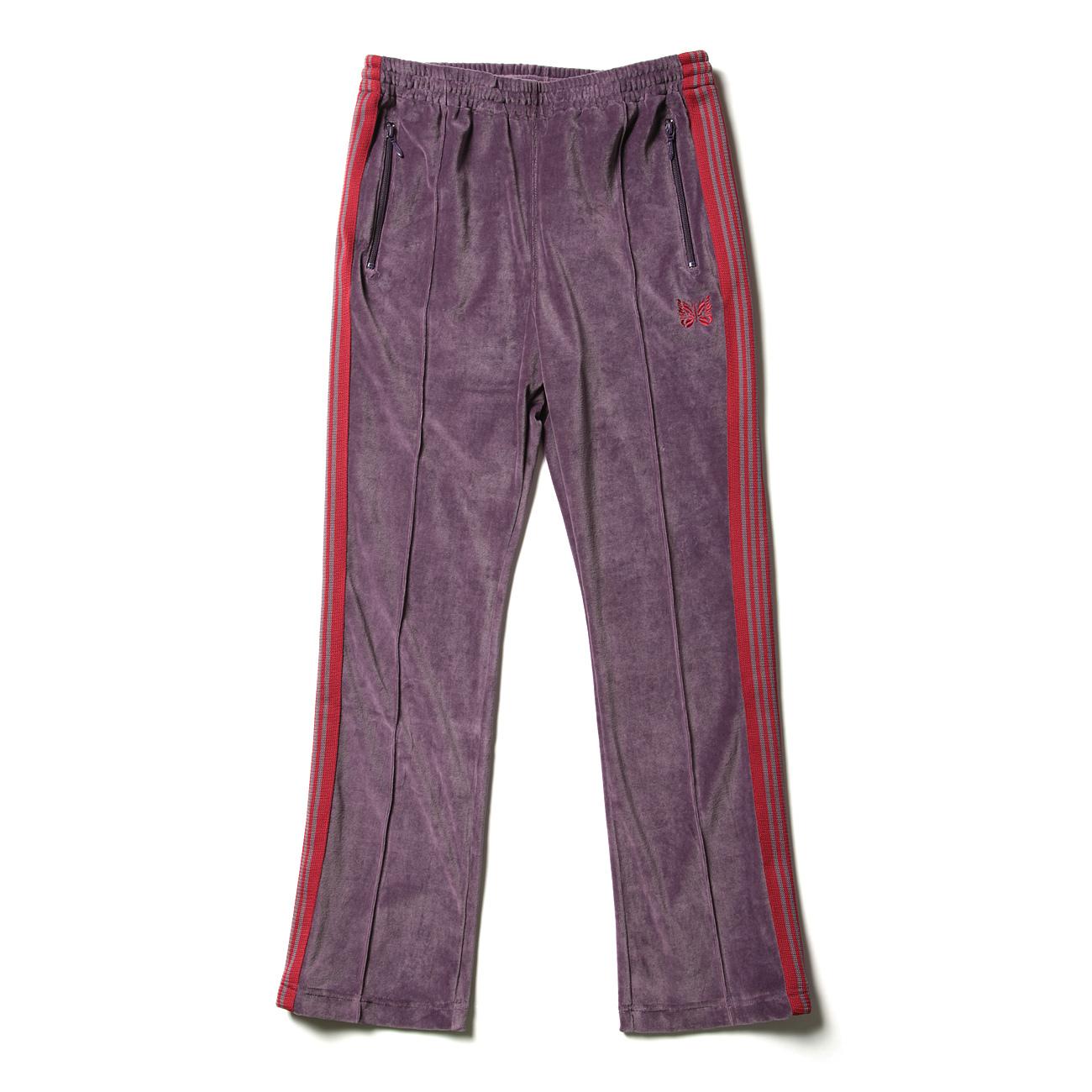Needles / Narrow Track Pant - C/Pe Velour - Purple