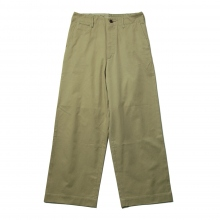 AURALEE / オーラリー | WASHED FINX LIGHT CHINO WIDE PANTS - Olive