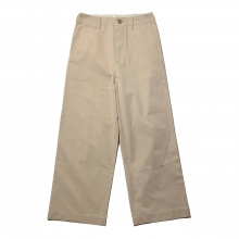 AURALEE / オーラリー | WASHED FINX LIGHT CHINO WIDE PANTS - Ivory