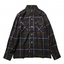 Needles / ニードルズ | Cut-Off Bottom Classic Shirt - T/R Plaid Twill - Navy