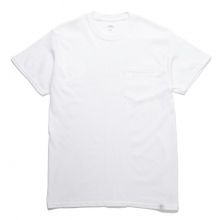 BEDWIN / ベドウィン | S/S PRINT POCKET T 「CURTIS」 - White