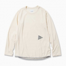 and wander / アンドワンダー | dry jersey raglan long sleeve T - Off White