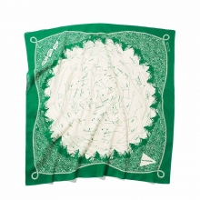 and wander / アンドワンダー | star chart printed big bandanna - Green