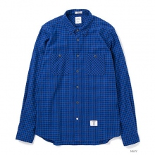 BEDWIN / ベドウィン|L/S FLANNEL GINGHAM CHECK SHIRT 「RICK」 - Navy