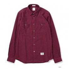 BEDWIN / ベドウィン|L/S FLANNEL GINGHAM CHECK SHIRT 「RICK」 - Red