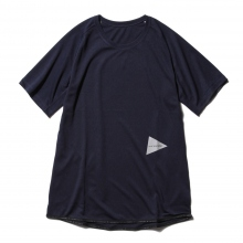 【Point 10% 4/28まで】and wander / アンドワンダー | dry jersey raglan short sleeve T - D.Navy