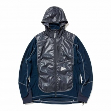 and wander / アンドワンダー | mixed pile hoodie - Navy