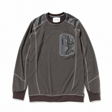 and wander / アンドワンダー | mixed pile pullover - Gray