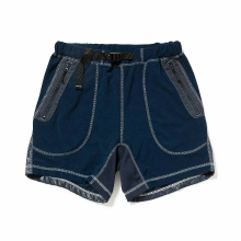 and wander / アンドワンダー | mixed pile short pants - Navy