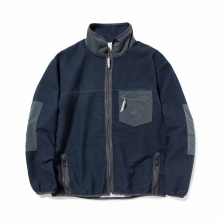and wander / アンドワンダー | pile denim jacket (M) - Navy