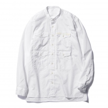 ....... RESEARCH || G.P.4 Bandcollar - Cotton broad - White