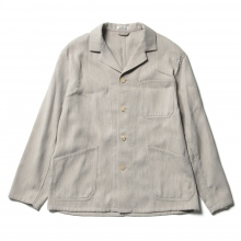 AURALEE / オーラリー | COTTON WOOL DOUBLE CLOTH BLOUZON - Yaku Top Gray