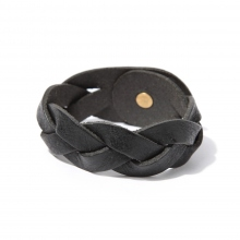 ROBERU / ロベル | Braided bracelet Wide - Black