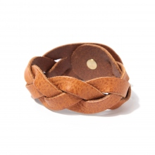 ROBERU / ロベル | Braided bracelet Wide - Camel