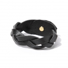 ROBERU / ロベル | Braided bracelet Narrow - Black