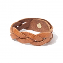 ROBERU / ロベル | Braided bracelet Narrow - Camel