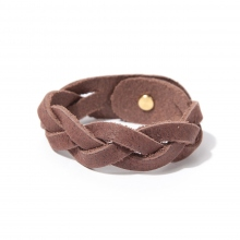 ROBERU / ロベル | Braided bracelet Narrow - Dark Brown