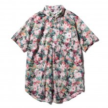 ENGINEERED GARMENTS | Pop Over BD Shirt - Floral Sheeting - White Watercolor