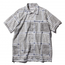 ENGINEERED GARMENTS / エンジニアドガーメンツ | Camp Shirt - Afghan Print - Wht/Blk