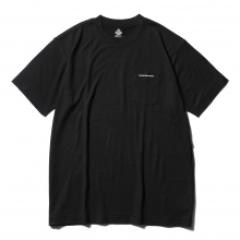 ....... RESEARCH | Pocket Tee - ウール天竺 - Black