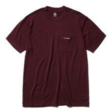 ....... RESEARCH | Pocket Tee - ウール天竺 - Wine
