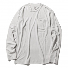 ....... RESEARCH | Pocket Tee L/S - ウール天竺 - L.Gray ☆