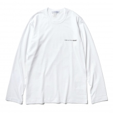 COMME des GARCONS SHIRT | cotton jersey plain with front print logo CDG SHIRT - White