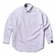 N.HOOLYWOOD / エヌハリウッド | 2201-SH08-004-peg B.D BIG SHIRT - Pink Stripe