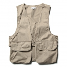 ENGINEERED GARMENTS / エンジニアドガーメンツ | Fowl Vest - High Count Twill - Khaki