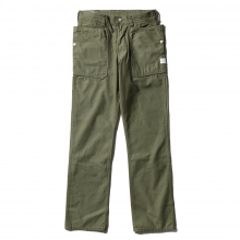 SASSAFRAS / ササフラス | FALL LEAF PANTS - Back Satin - Olive ★