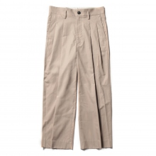 URU / ウル | COTTON 2TUCK PANTS - C.Gold